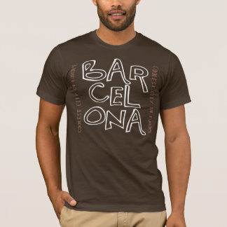Barcelona is Cool (Brown) T-Shirt