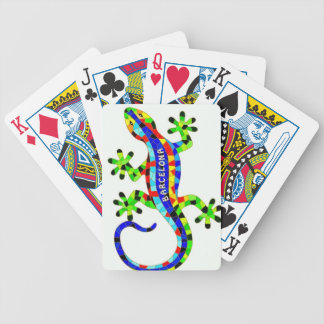 Barcelona lizard bicycle playing cards