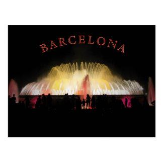 Barcelona Montjuic Magic Fountain at night Postcard