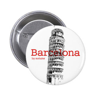 Barcelona-Pisa by mstake 6 Cm Round Badge