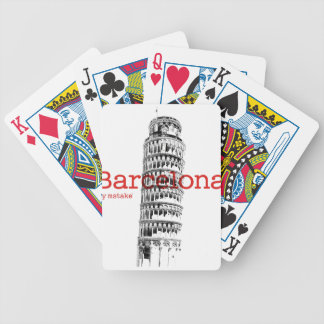 Barcelona-Pisa by mstake Bicycle Playing Cards