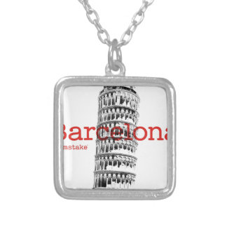 Barcelona-Pisa by mstake Silver Plated Necklace