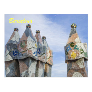Barcelona post card, casa batilo postcard