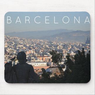 Barcelona Postcard Mouse Pad