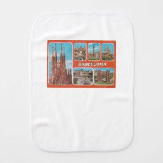 Barcelona retrospect burp cloth