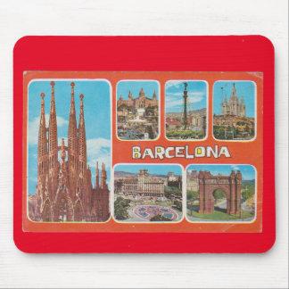 Barcelona retrospect mouse pad