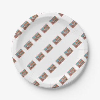 Barcelona retrospect paper plate