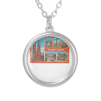 Barcelona retrospect silver plated necklace