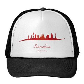 Barcelona skyline in network cap