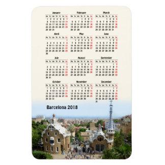 Barcelona, Spain 2018 calendar Magnet