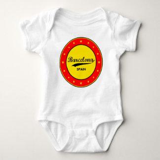 Barcelona, Spain, circle Baby Bodysuit