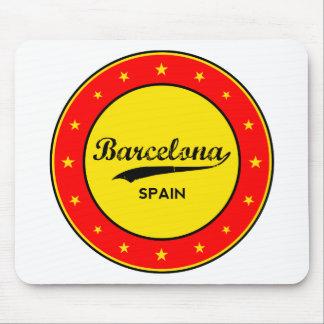 Barcelona, Spain, circle Mouse Pad