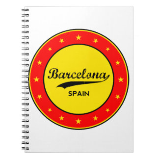 Barcelona, Spain, circle Notebook