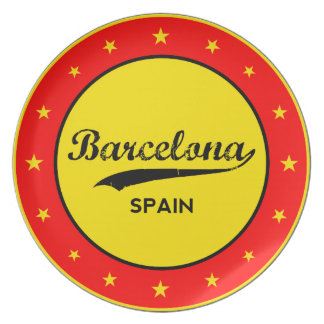 Barcelona, Spain, circle Plate