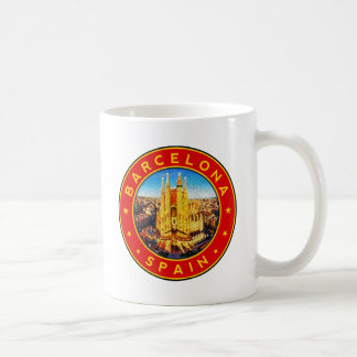 Barcelona, Spain, circle, red Coffee Mug