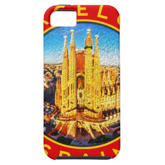 Barcelona, Spain, circle, red iPhone 5 Covers