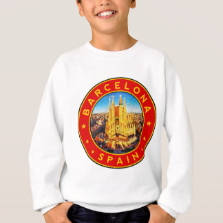 Barcelona, Spain, circle, red Sweatshirt
