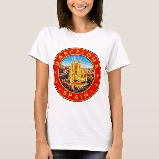 Barcelona, Spain, circle, red T-Shirt