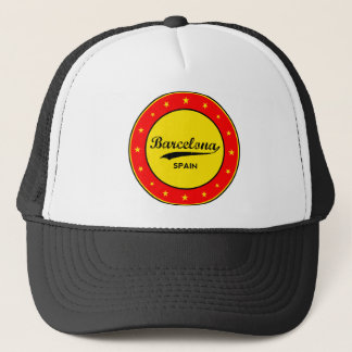 Barcelona, Spain, circle Trucker Hat