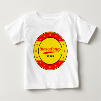 Barcelona, Spain, circle with flag colors Baby T-Shirt