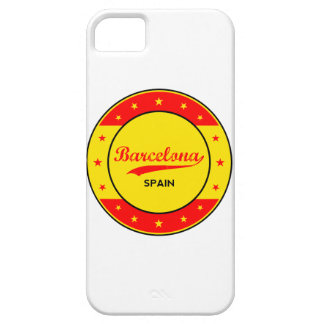Barcelona, Spain, circle with flag colors Barely There iPhone 5 Case