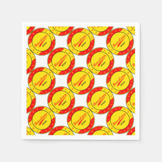 Barcelona, Spain, circle with flag colors Disposable Serviettes