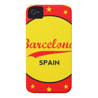 Barcelona, Spain, circle with flag colors iPhone 4 Case-Mate Case