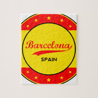 Barcelona, Spain, circle with flag colors Jigsaw Puzzle