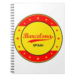 Barcelona, Spain, circle with flag colors Notebook