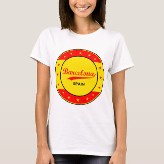 Barcelona, Spain, circle with flag colors T-Shirt