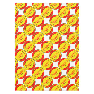Barcelona, Spain, circle with flag colors Tablecloth