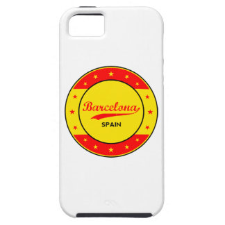 Barcelona, Spain, circle with flag colors Tough iPhone 5 Case