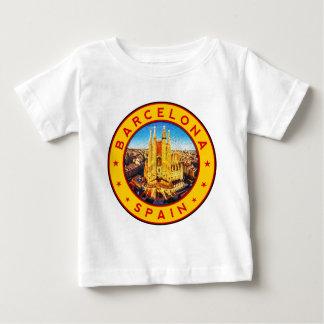 Barcelona, Spain, circle, yellow Baby T-Shirt