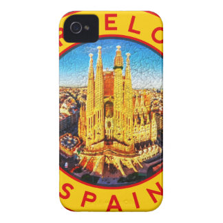 Barcelona, Spain, circle, yellow Case-Mate iPhone 4 Case