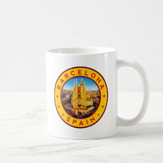 Barcelona, Spain, circle, yellow Coffee Mug