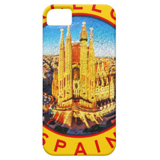 Barcelona, Spain, circle, yellow iPhone 5 Cases