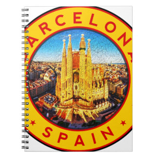 Barcelona, Spain, circle, yellow Notebook