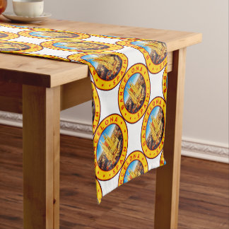Barcelona, Spain, circle, yellow Short Table Runner