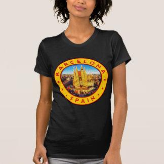 Barcelona, Spain, circle, yellow T-Shirt