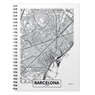 Barcelona, Spain   City Map Spiral Notebook
