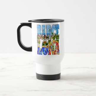 Barcelona Spain Europe Colorful Photo Typography Travel Mug