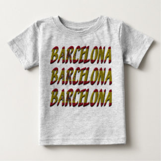 Barcelona Spain Flag Colors Typography Baby T-Shirt
