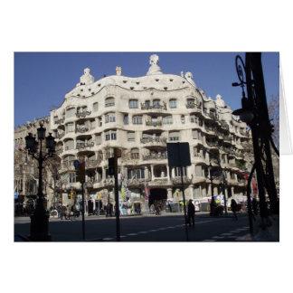 Barcelona, Spain, Gaudi, greeting card