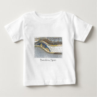 Barcelona Spain Parc Guell Tourist Destination Baby T-Shirt