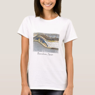 Barcelona Spain Parc Guell Tourist Destination T-Shirt