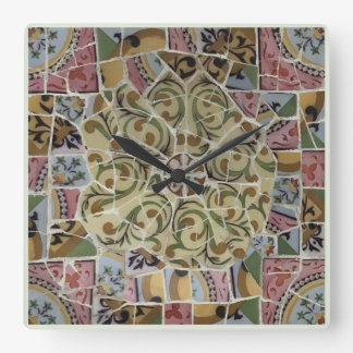 Barcelona Spain, Park Güell, Wall Clock