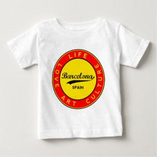 Barcelona, Spain, red circle, art Baby T-Shirt
