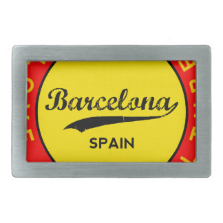 Barcelona, Spain, red circle, art Belt Buckle