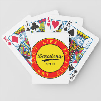 Barcelona, Spain, red circle, art Bicycle Playing Cards