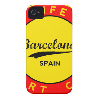 Barcelona, Spain, red circle, art iPhone 4 Case